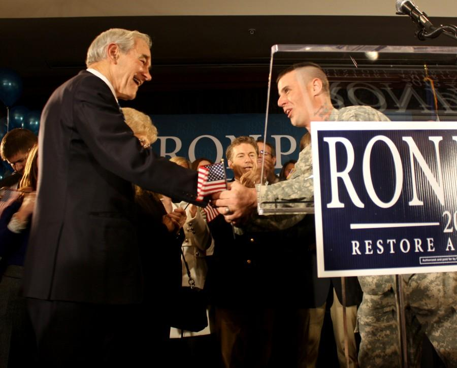 Veteran speaks on Ron Pauls behalf