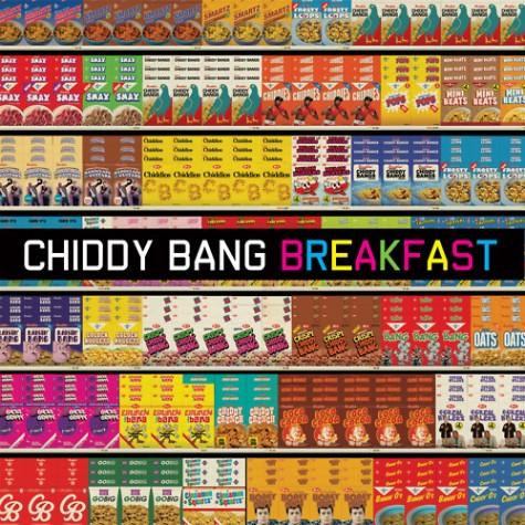 The cover art of the first album by the artist Chiddy Bang. Breakfast was released on February 21, 2012.