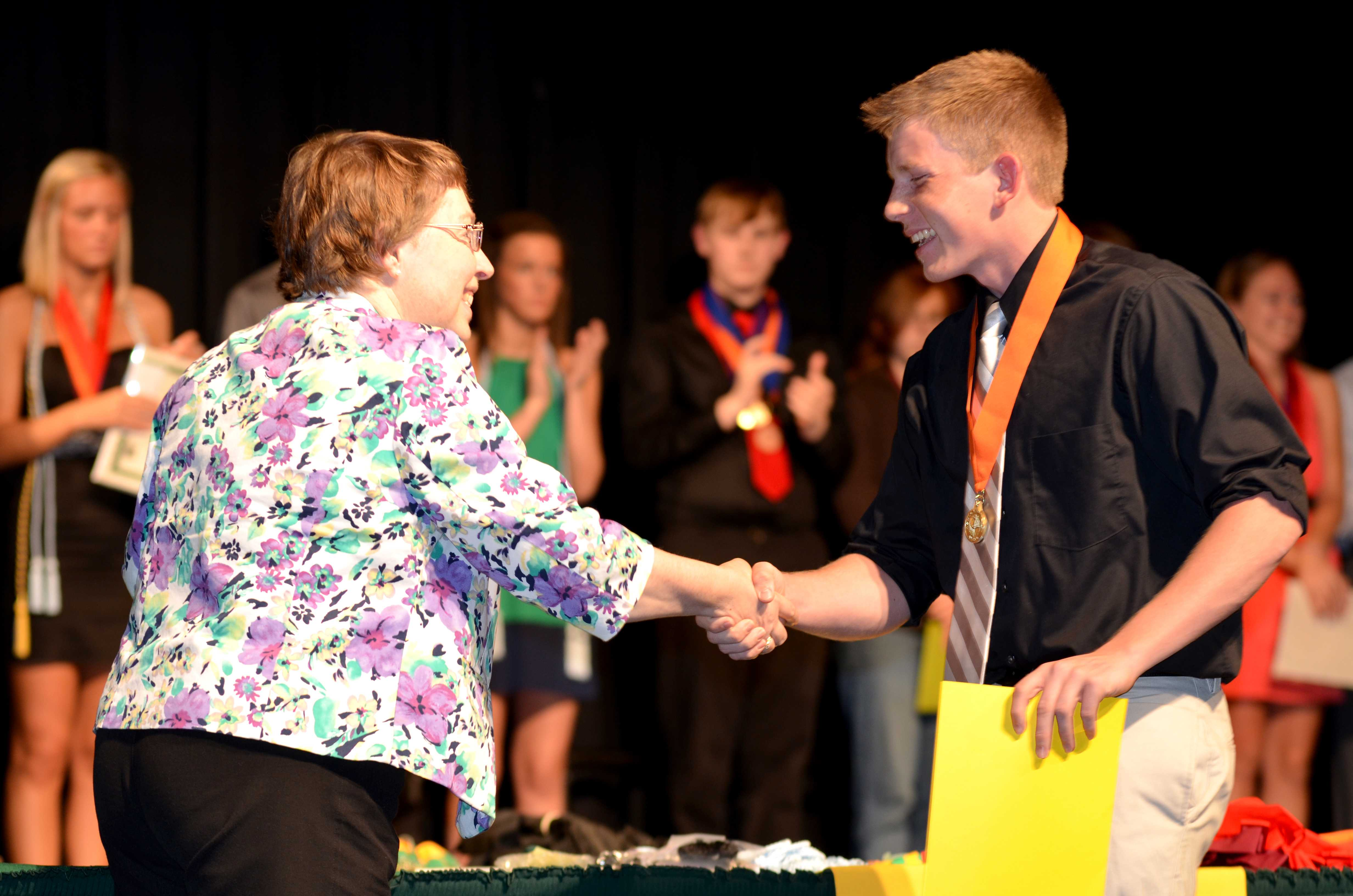 James Hardman, sr., receives the Scottish Rite Adams Principal Scholarship