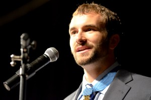Student honored by Medal of Honor recipient SSG Sal Giunta