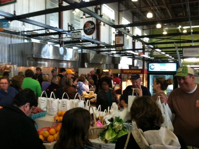 Hundreds of people went to the NewBo Market last weekend during the Grand Opening.