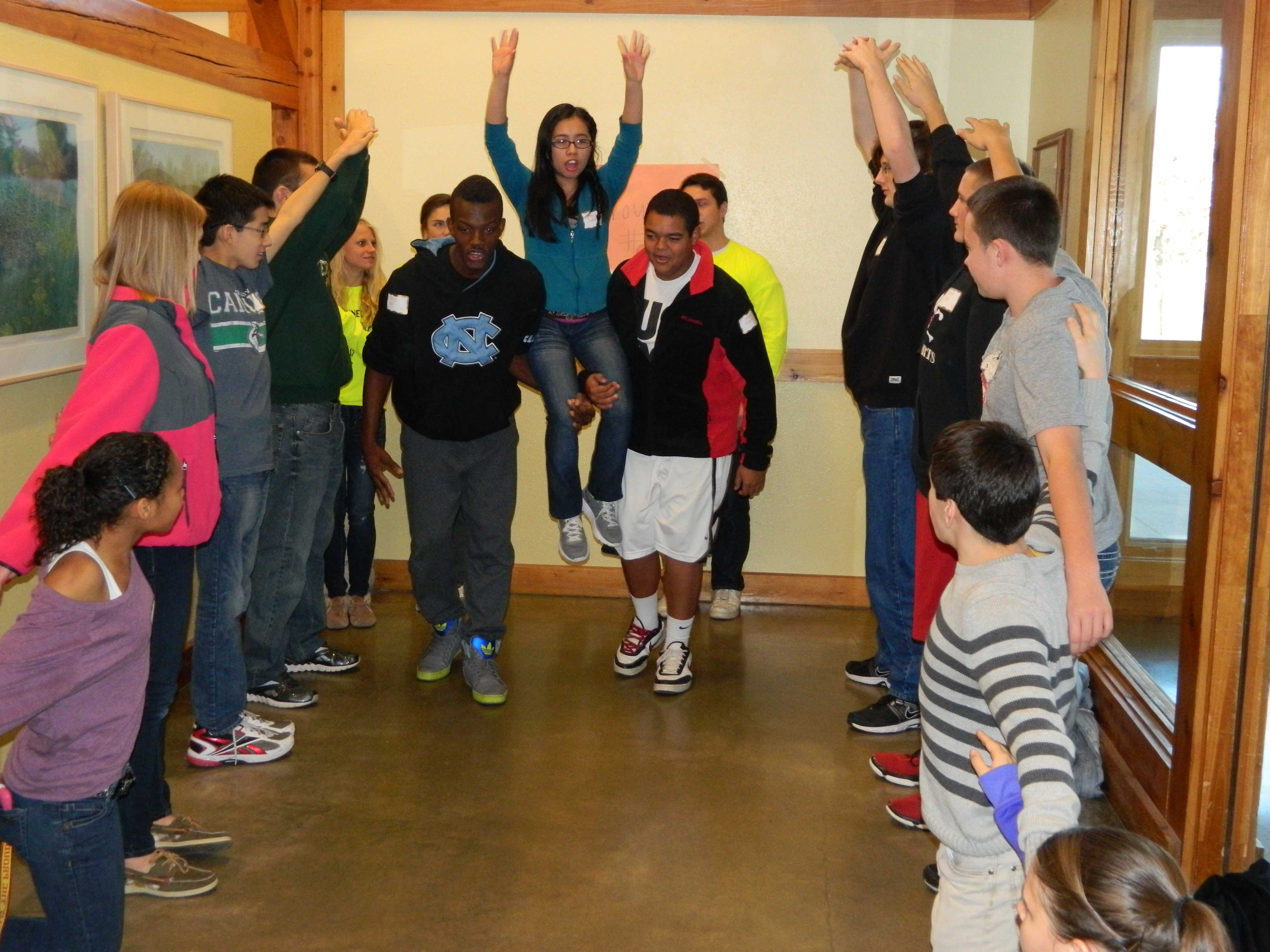 Students participate in fall leadership retreat