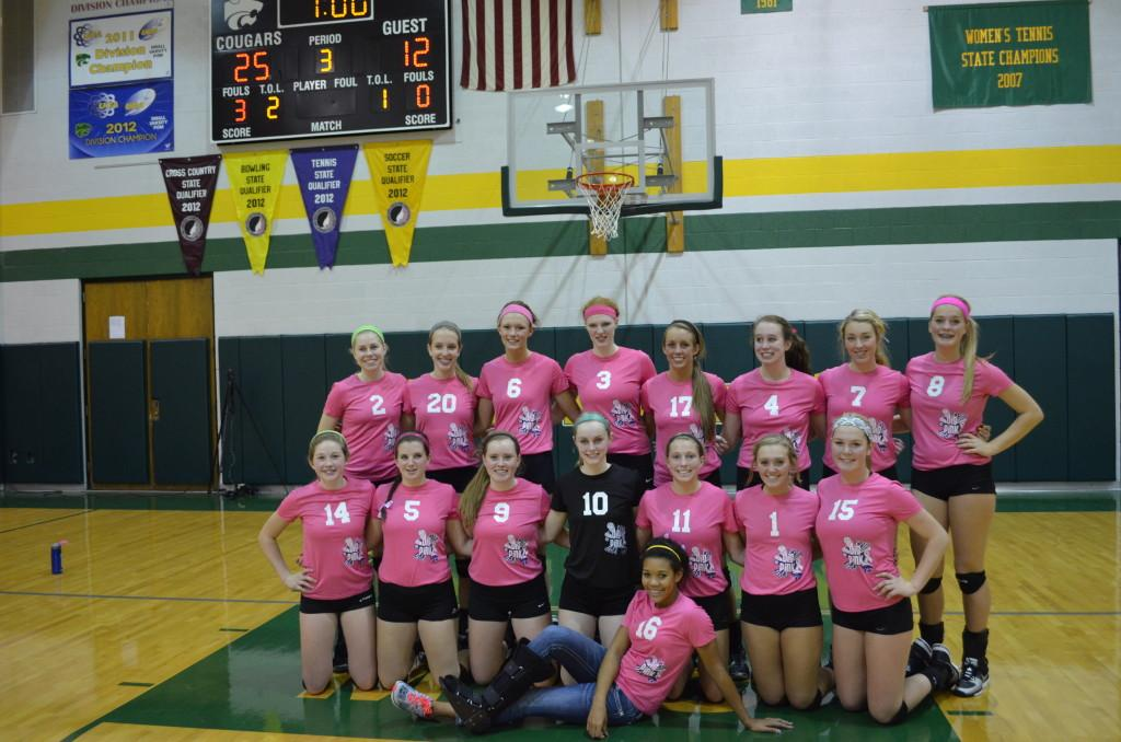 Kennedy volleyball pink out