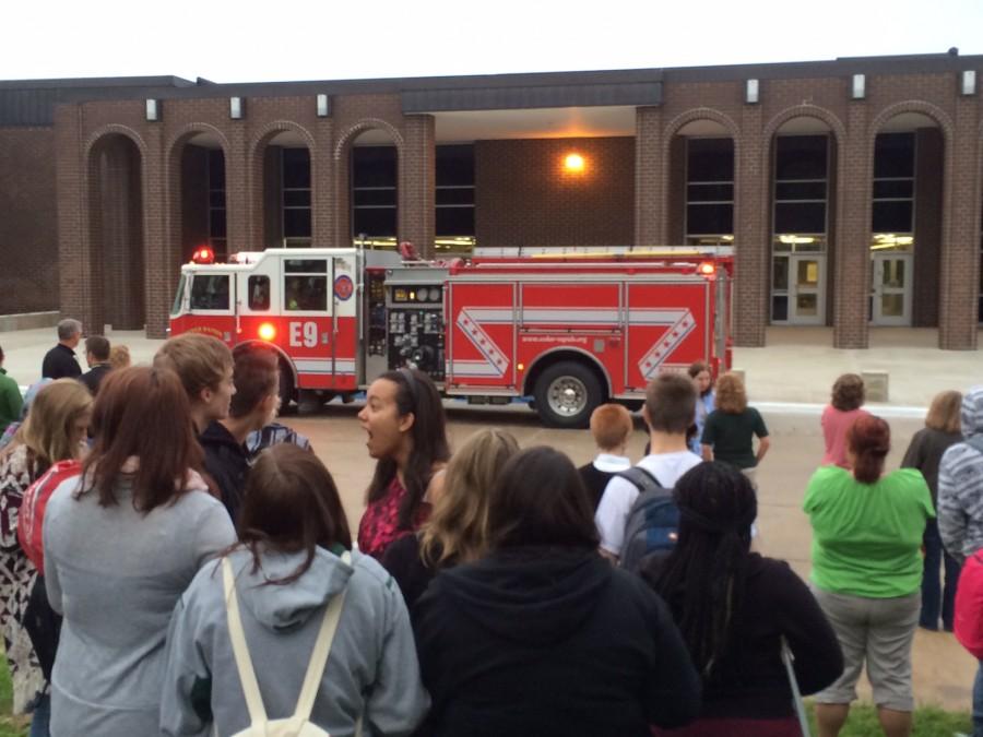 Students evacuate