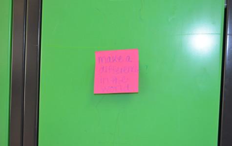 Sticky note smiles brighten students' day
