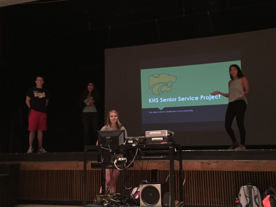 NHS leaders shared the idea for the senior project to the senior class today. It was met with a positive response and interest from students.