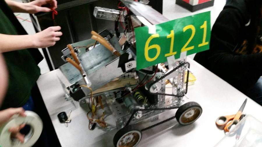 Robotics+Club+is+one+of+many+for+students+to+check+out.+Kennedy%27s+Robot+above%2C+is+photographed+by+Daniel+Lovig
