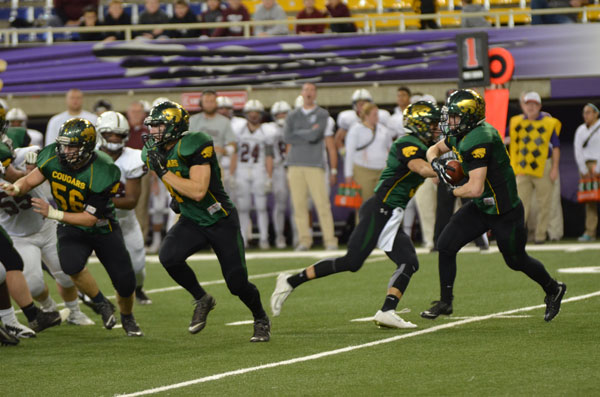 Tyler Dralle, sr., broke the metro most yard rushed record last night in the state championship game.