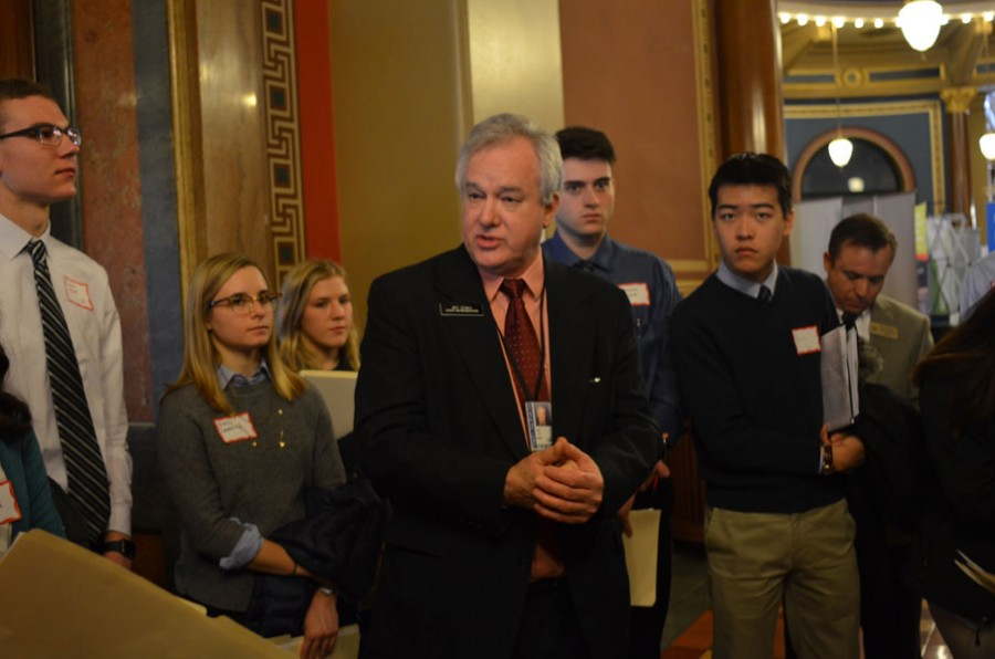 Kennedy students traveled to the capital last year to lobby for education funding. Democratic Representative Art Staed talked with students.