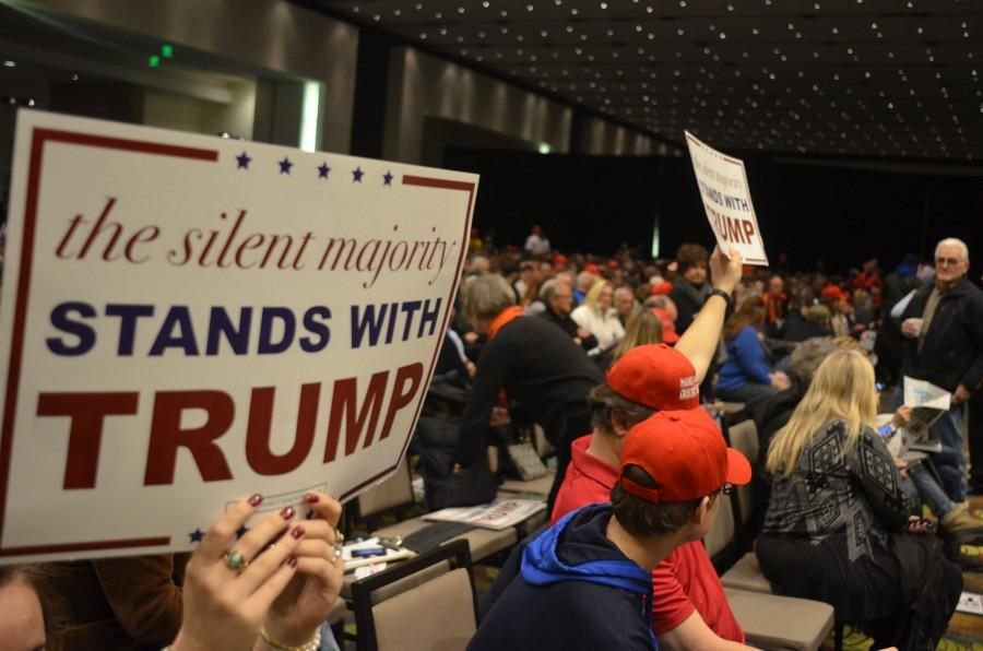 Trump+supporters+at+Iowa+Caucus+in+early+February+of+2016.+Photo+by+Nathan+Sheeley.+