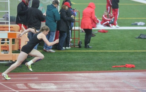 Take your mark, women's track and field has started