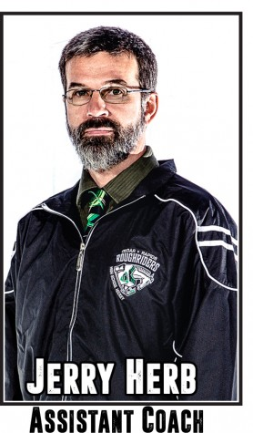 Herb coaches more than 20 area high school players who participate in the Roughriders Hockey Club.