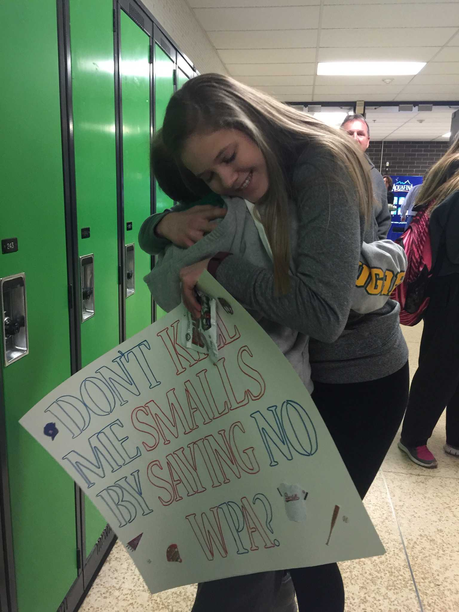 Rylee Fellmer with Jack Hoeger after asking him to WPA.