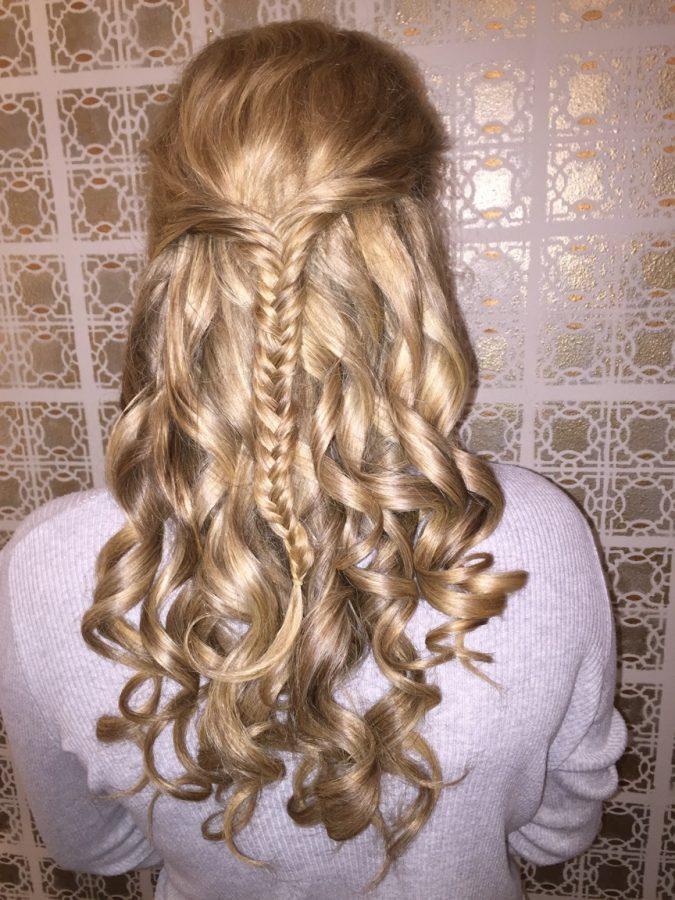 half up half down fishtail braid style model: Madison Haefner Sr