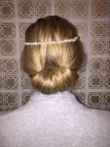 twisted bun up do style Model: Madison Haefner Sr