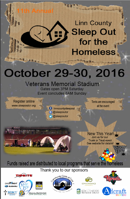 Information about homeless night