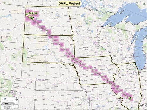 The proposed pipeline will cut through many states in the midwest and it sparking controversy all over.