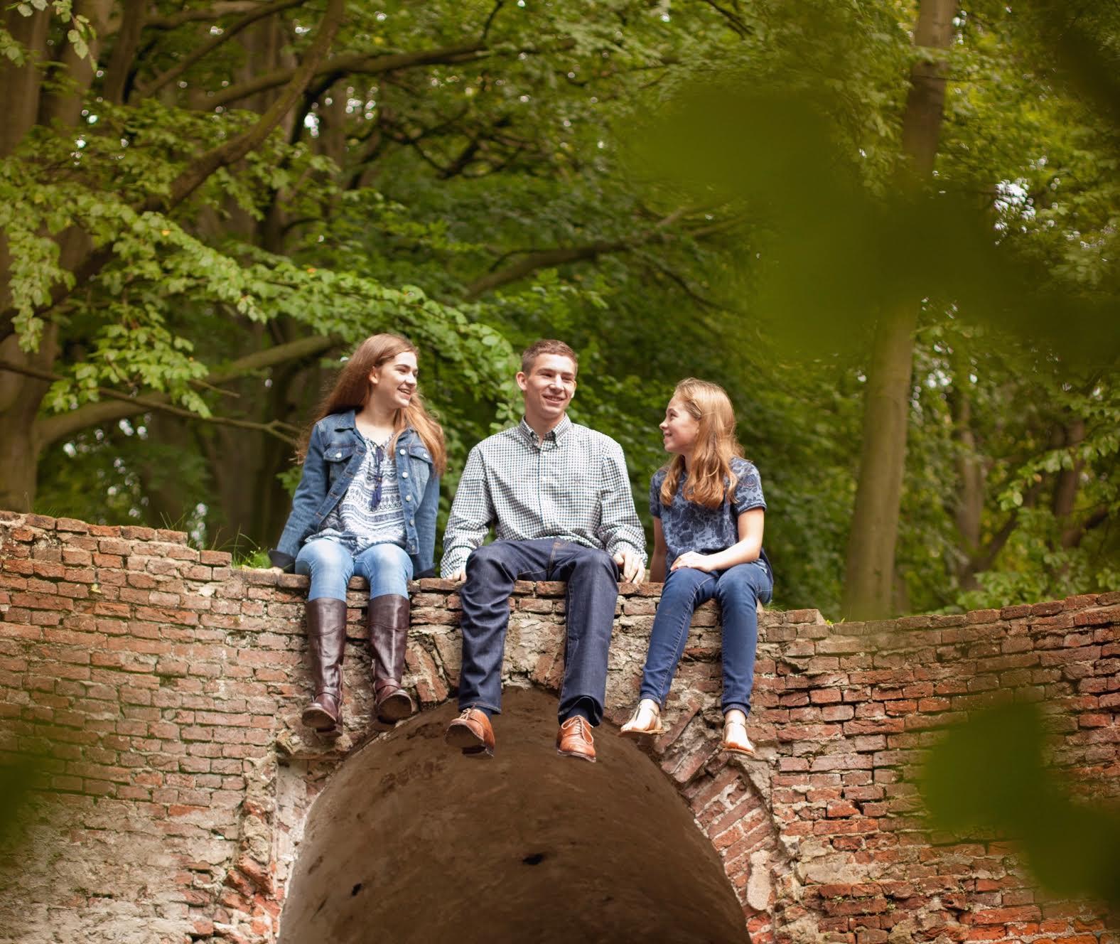 Brooklyn Button (jr.), with siblings in Wassenaar, Netherlands