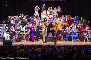 Happiness Inc. performing at Prairie Premiere Show Choir Invitational. Photo provided by Craig Peterson.