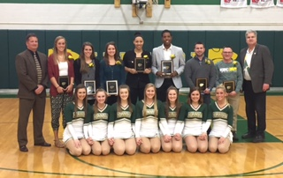 Kennedy Varsity Dance Team seniors accompany seven hall of fame inductees