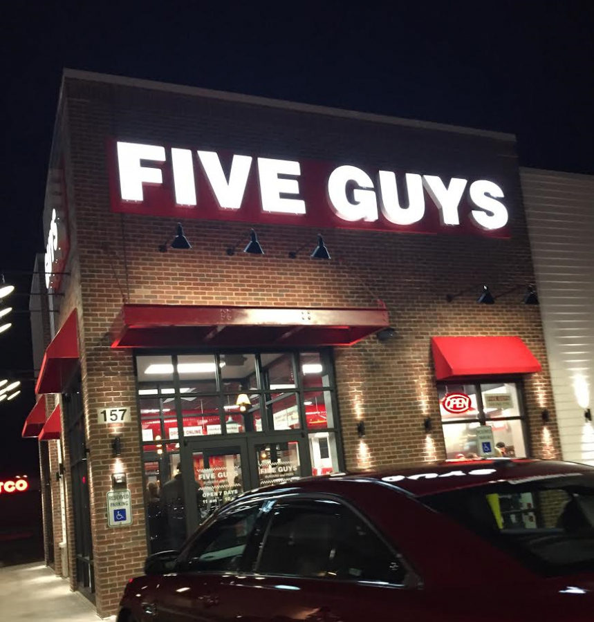 Five Guys restaurant on Collins Road