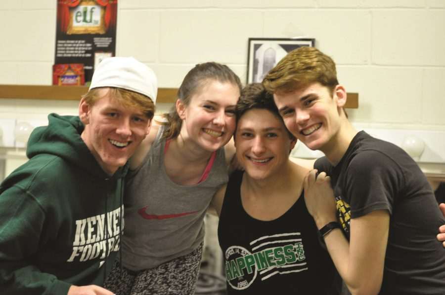 Kyle Huber, sr., Moira Green, sr., Brandon Koch, sr., and Michael Shea, sr., at the