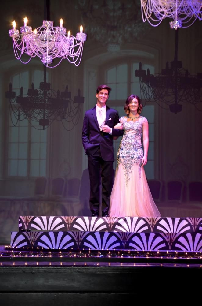 Maryn DeVore sr., and Lincoln Klopfenstein look lovely at the grand march.