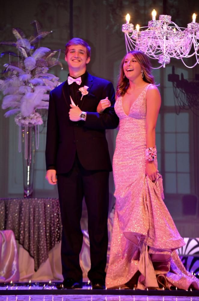 Alexis Hull sr., and Michael Kaiser are one happy couple at the grand march.