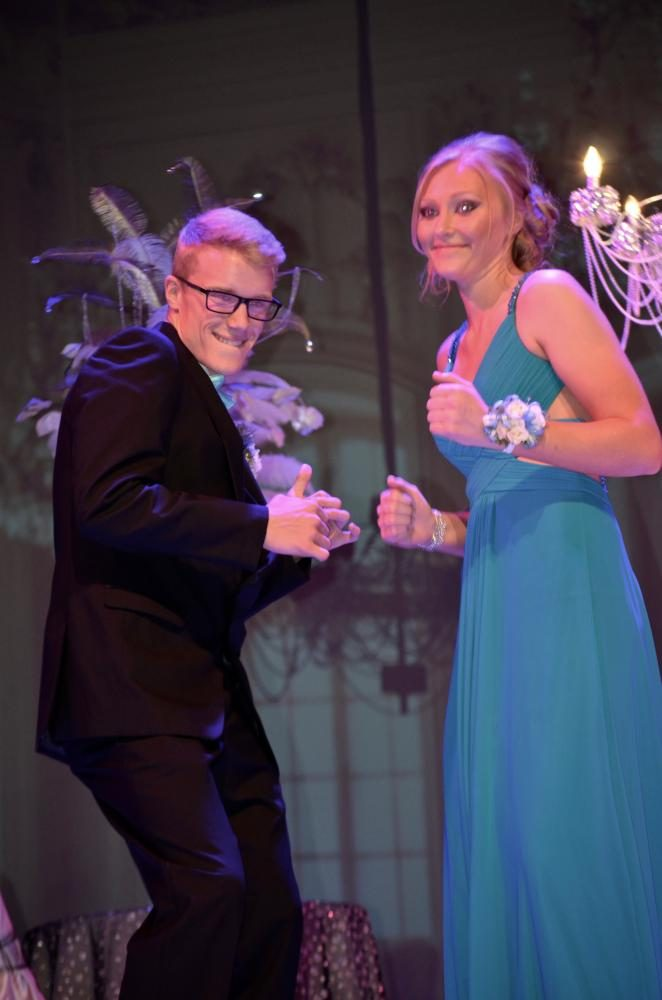 Ashley Hamilton sr., and Will Stecker so., juju on that beat at the grand march.
