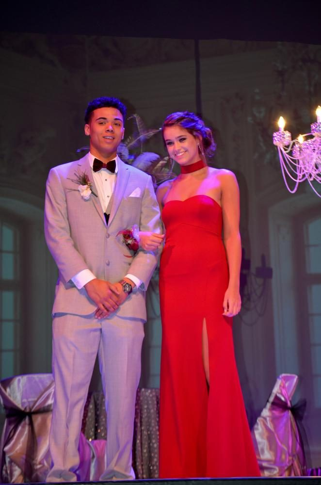 Isaiah Harris sr., and Maddie Lyman so., are one happy couple at prom.