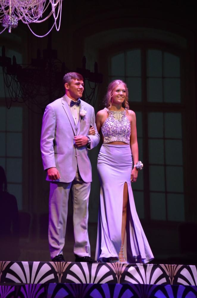 Matt Berst sr., and Halle Hill so., look stunning at the grand march.