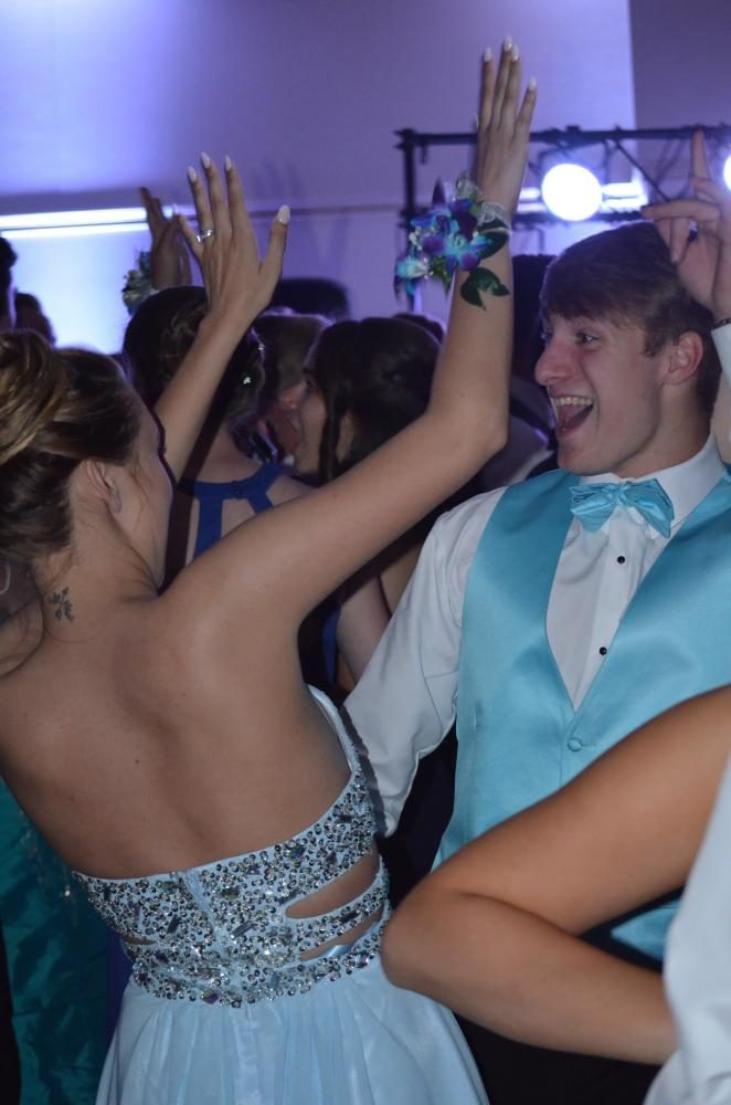 Zoey Crighton sr., and her date (Logan Dulin) dance the night away.