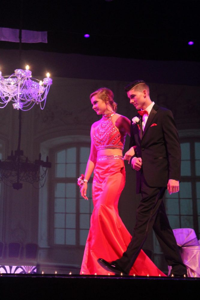 Jess Williams sr., and her date look stunning walking across the stage.
