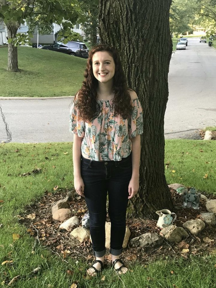 Paige Losch, sr., on her first day of senior year.