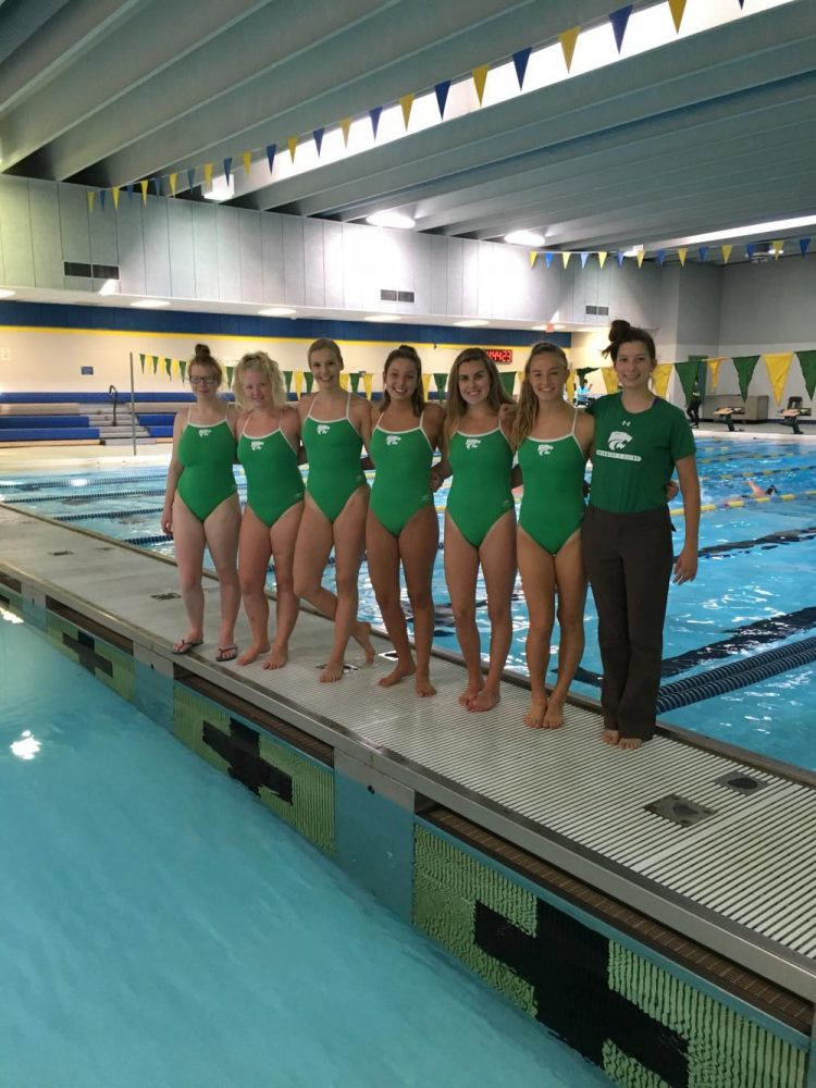 Seniors before their meet against Iowa City West.