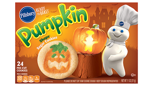 Pillsbury's pumpkin fall season cookie.