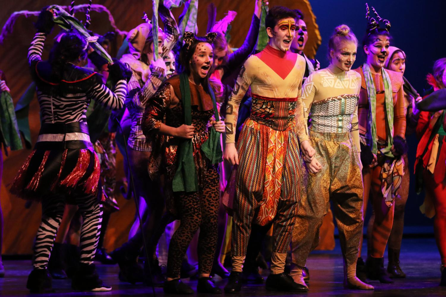 The Lion King Junior opens tonight in the Kennedy Auditorium. There are 42 cast members and 12 tech crew members, according to director Steve Tolly. Teacher Nick Hayes is the show's tech director.