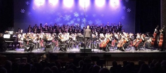 The orchestra performing at the 2016 Winter Showcase.