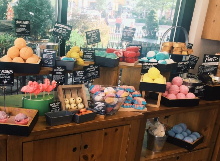 Assorted bath bombs at the LUSH Cosmetics store in Minnesota.