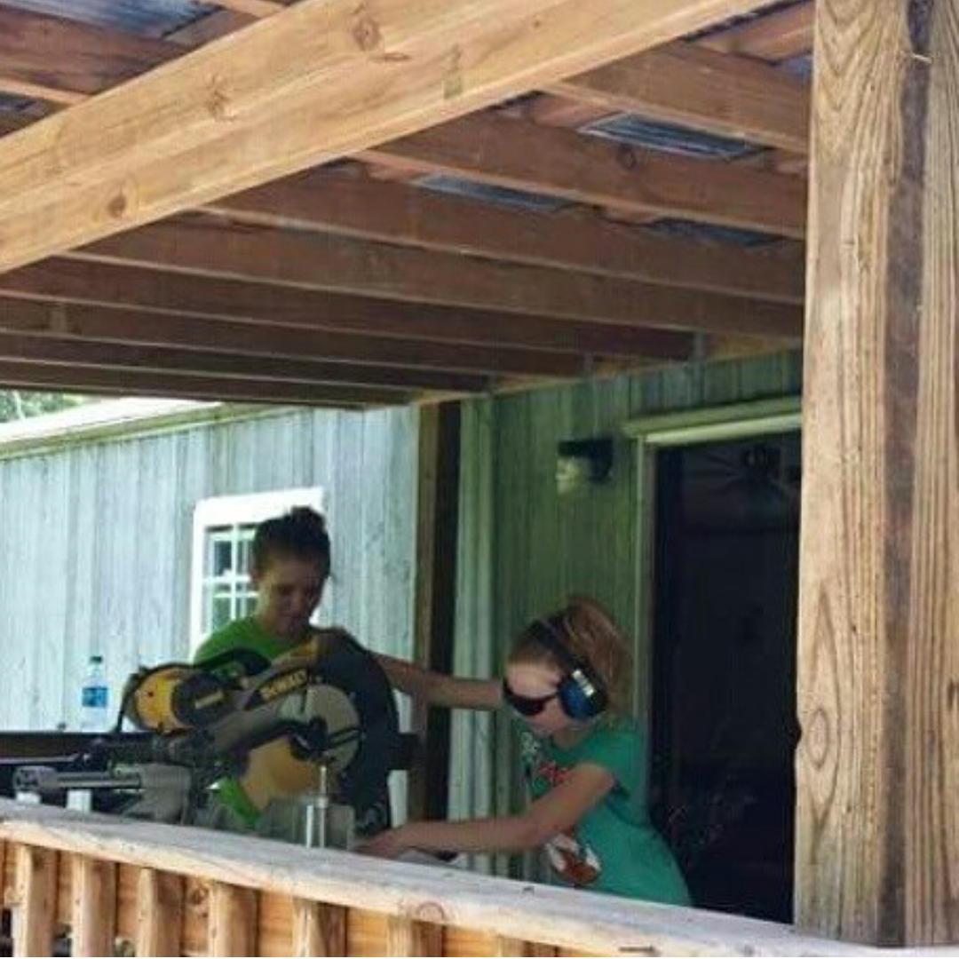 One of Allie Sjullie's volunteering experiences took her to Kentucky for a week to help fix up a home.. She says that