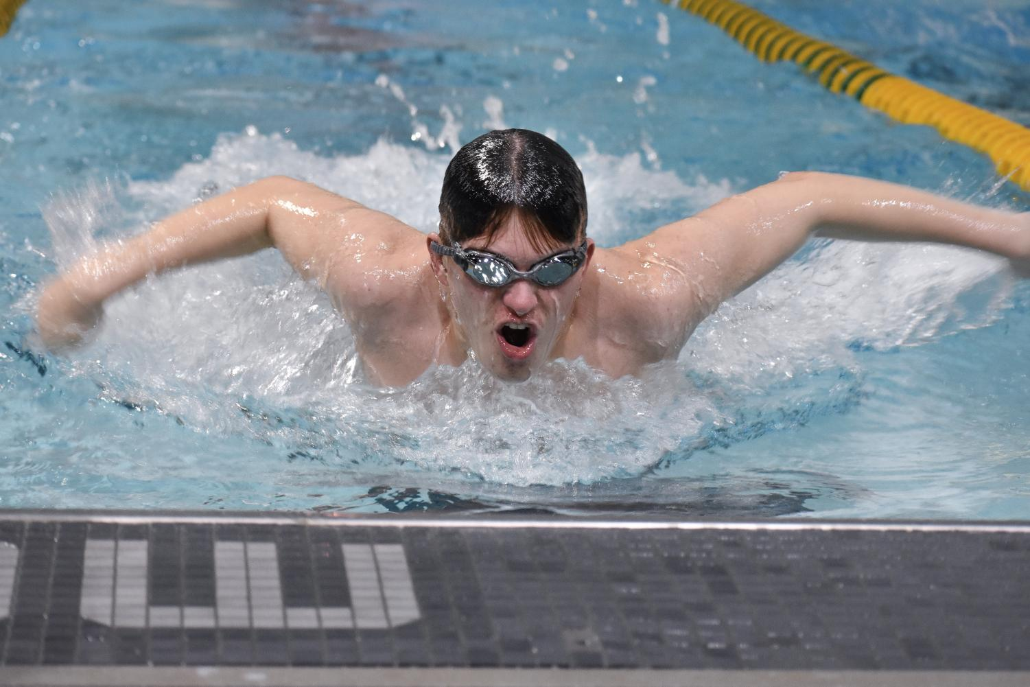 Danny Mulhern fr., swims in the individual medley.