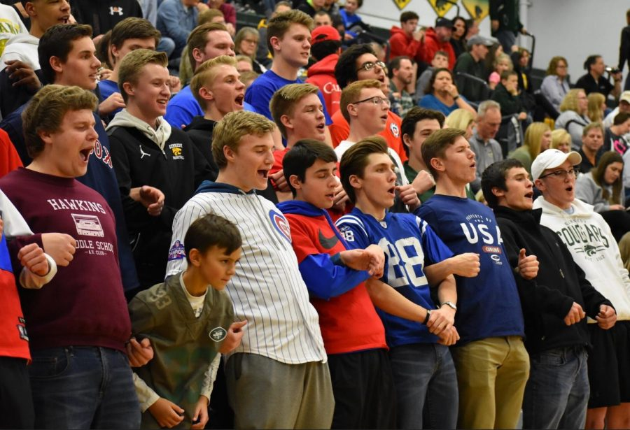 Cougar Nation came out to support the boys.