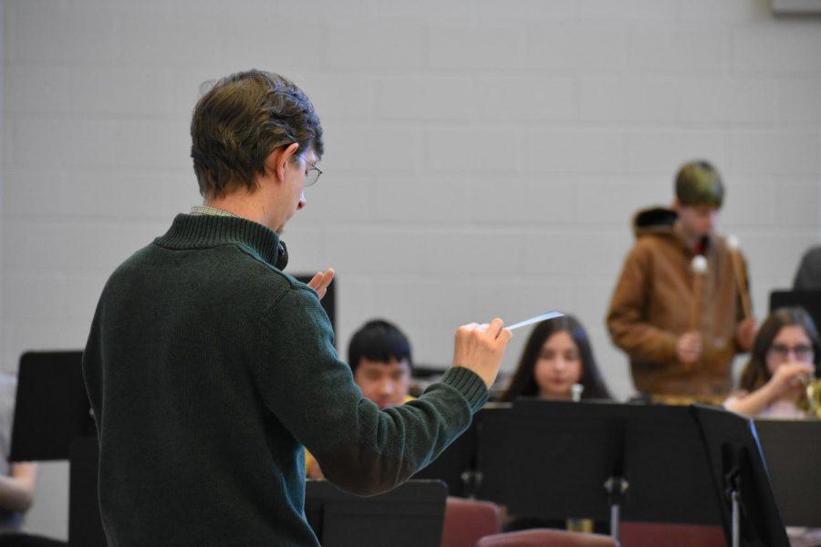 Director Jared Wacker, conducting.