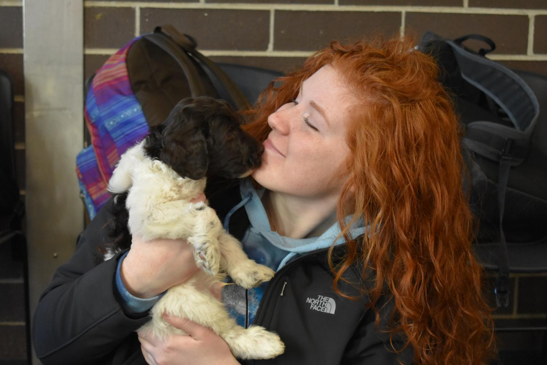 Jamison Prull sr., gets puppy love.