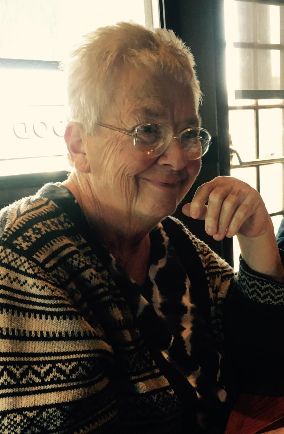 Nancy Melsa, the grandmother of Davis and Foley enjoying a birthday lunch at Red Lobster in Nov. 2016.