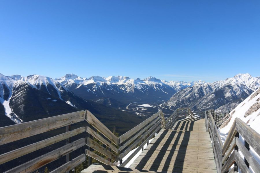 One of the things on my Banff bucket-list was to ride the gondola to the top of Sulphur Mountain. This picture is part of the walkway that takes visitors from the main building to the small cabin on the summit. The small cabin (not pictured) used to be a weather station in the mid 1900s. It is called the Sulphur Mountain Cosmic Ray Station and is a