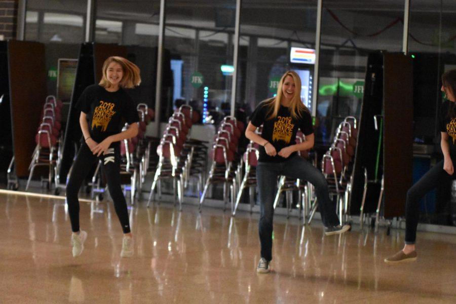 Lauren Krzywicki, fr., and teacher Hillary Nekvinda dancing the country style they both love.