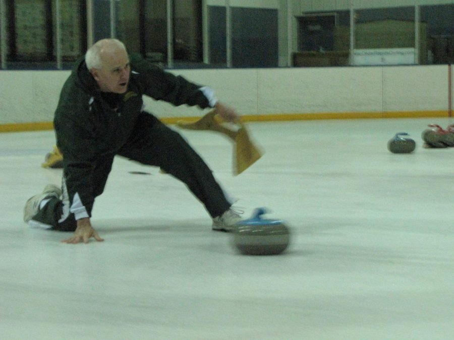 Joseph Benedict in action on the rink.