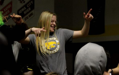 Reagan Linder, jr., busting a move during the whole school dance-off.