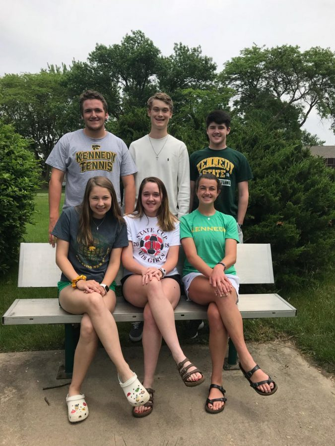 Kennedy+student+Government+officers+2018-2019+school+year.+top+left+Noah+Gleode%2C+Charles+Haefner%2C+Louie+Ervin.+Bottom+right+Kia+Johnson%2C+Rylee+Ervin%2C+Lauryn+Vaske.+